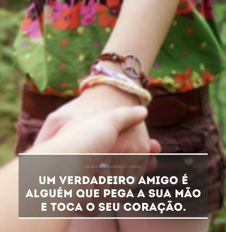 Toca O Seu Coração Mensagens De Amizade