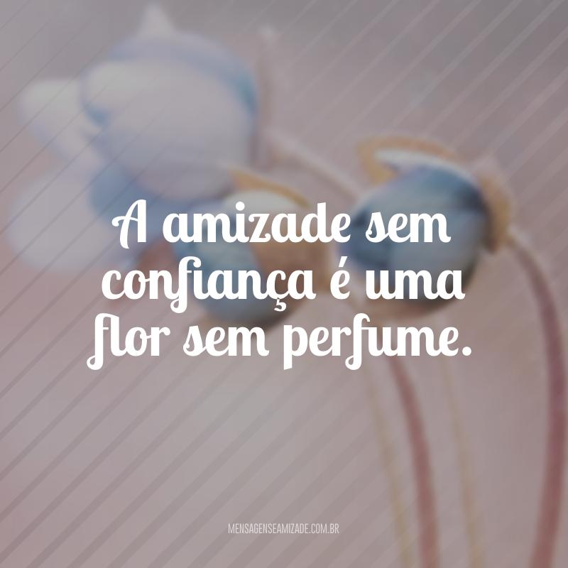 A amizade sem confiança é uma flor sem perfume.