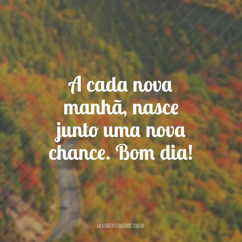 A cada nova manhã, nasce junto uma nova chance. Bom dia!