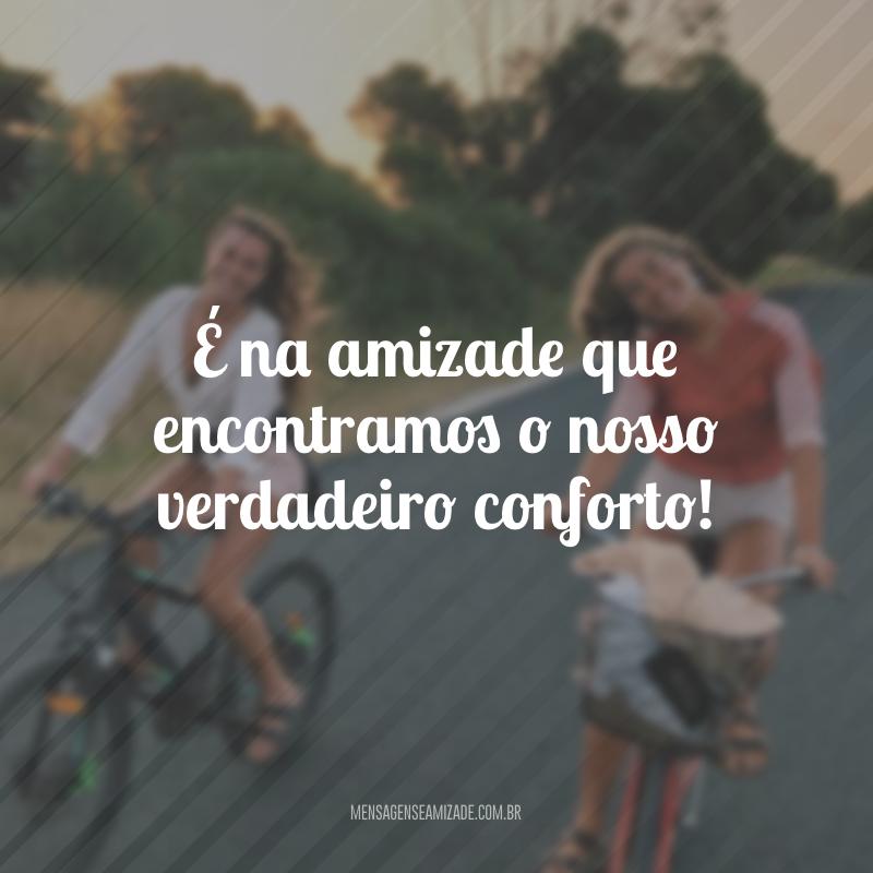 É na amizade que encontramos o nosso verdadeiro conforto!