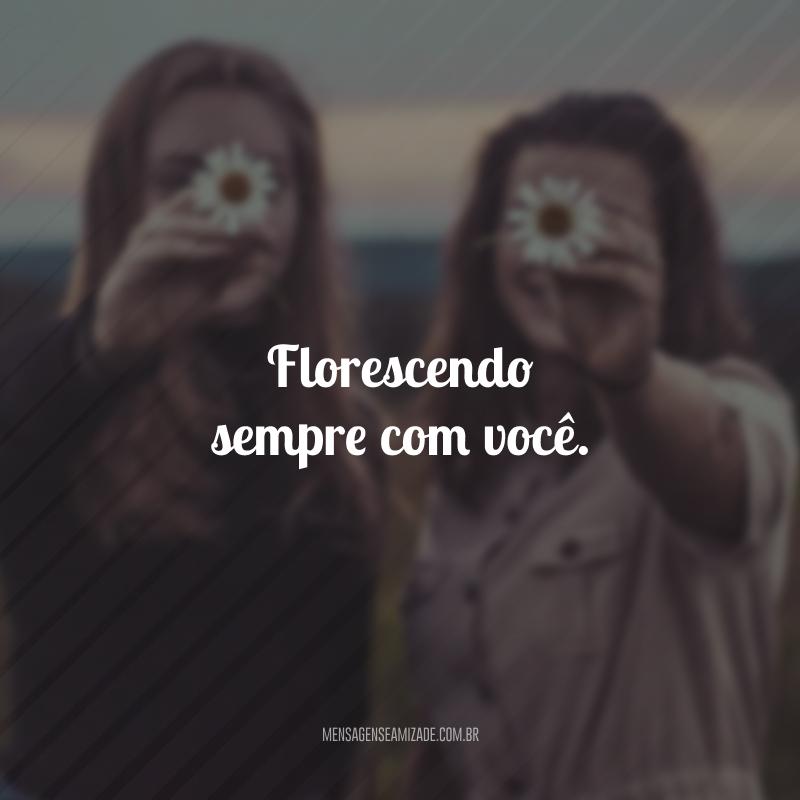 Florescendo sempre com você.